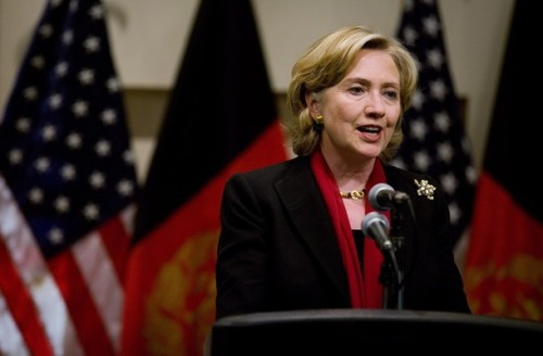 Hillary Clinton Gives Press Conference In Kabul