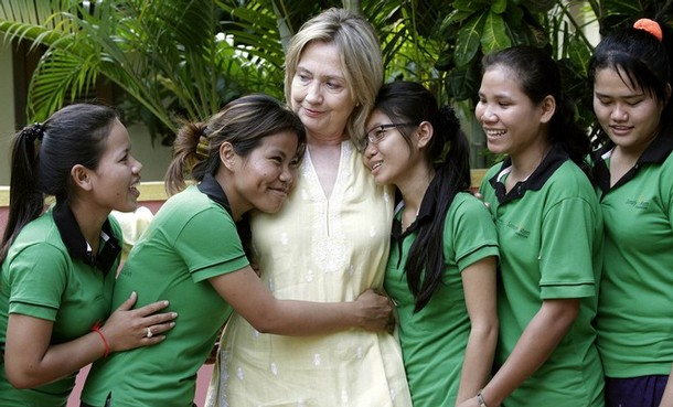 hillary clinton young age. These young women understand