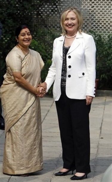 Hillary Rodham Clinton, Sushma Swaraj