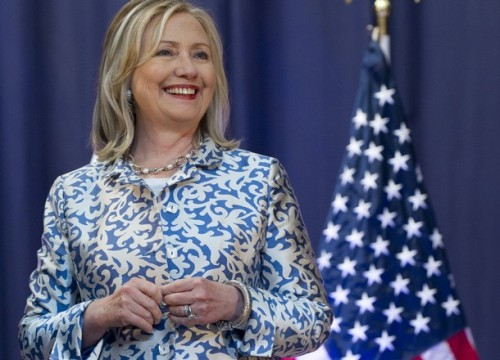 US Secretary of State Hillary Clinton ar
